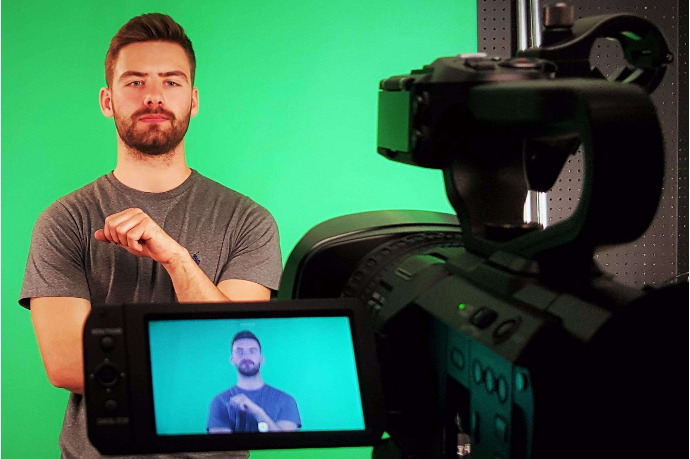 chroma key green screen studio